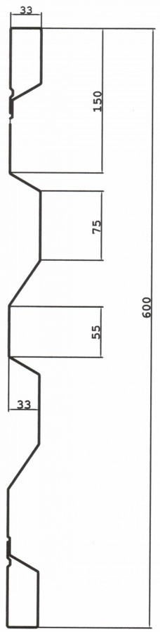 bordwandprofile 600 mm hagl stahlbordw nde. Black Bedroom Furniture Sets. Home Design Ideas